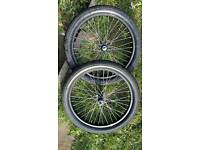 Pair of 20inch bmx wheels