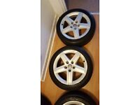 Audi A3 Alloy Wheels Genuine Audi A3 wheels 17 inch Plus Good condition Tyres