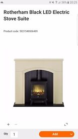 BEAUTIFUL MUST HAVE ELECTRIC fire and fireplace. No chimney required