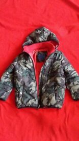 BLUE ZOO CAMOUFLAGE JACKET FOR 7 - 8 YEARS