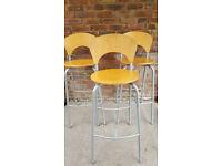 3x sturdy bar stools
