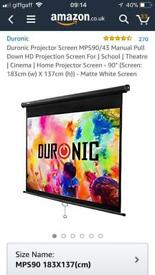 "Projector Screen Duronic 90"" Brand New Boxed"