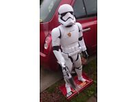 """**NEW** Very large interactive Star Wars Stormtrooper as seen in """"The Last Jedi"""""""