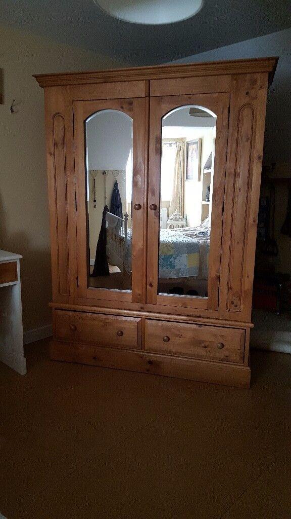 Huge solid pine wardrobe - Bargain