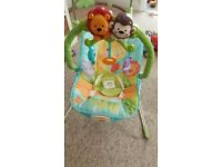 Fosher price calming vibrations jungle baby bouncer