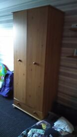 Wardrobe and chest of drawers for sale . Good condition