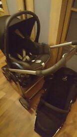 ICandy pushchair with raincover and Maxi cosi car seat
