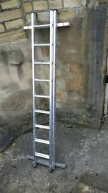 double section extension ladder