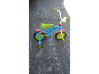 Boys First Bike with stabilisers
