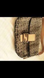 Designer authentic and original fendi clutch bag