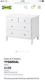 BNIB IKEA TYSSEDAL chest of 4 drawers