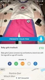 Baby girls converse tracksuit