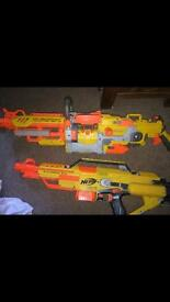 2 Nerf guns in pretty good condition