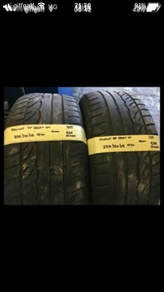 235/50/18 2355018 235-50-18 235:50:18 97V DUNLOP SP SPORT 01 Pair Of 2 Tyres.