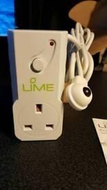Lime energy saving plug (New)
