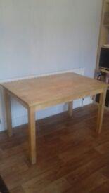 Solid Birch Wood Ikea Table