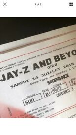 2 x Beyonce Jay Z On the run 2 tour tickets PARIS 14th July