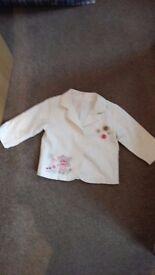 9-12 month white jacket