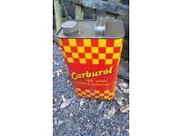 Vintage Carburol Upper Cylinder Lubricant Can