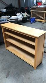 Oak display cabinet & bookcase