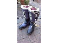Wulf motocross boots (size 12 adult)