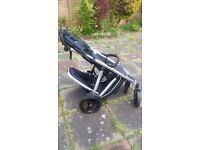 Phil & Teds Verve Baby Buggy & Double Kit - Black