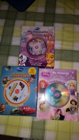 15 DISNEY STORY BOOKS AND CDS