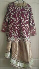 beautiful red and gold medium size lenga