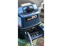 Yamaha 20 hp Outboard Motor Petrol Engine AutoLube 2 Stroke with Petrol Tank