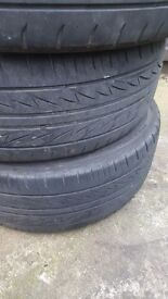 Part worn bridgestown tyres 225/55/R17