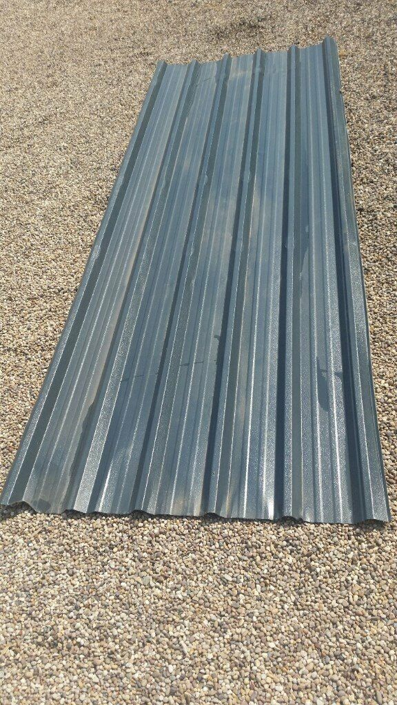 Metal Roofing Box Profile Sheet Grey Plastic Coated 1m
