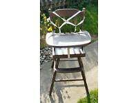 Old toddler child high chair. Hanworth