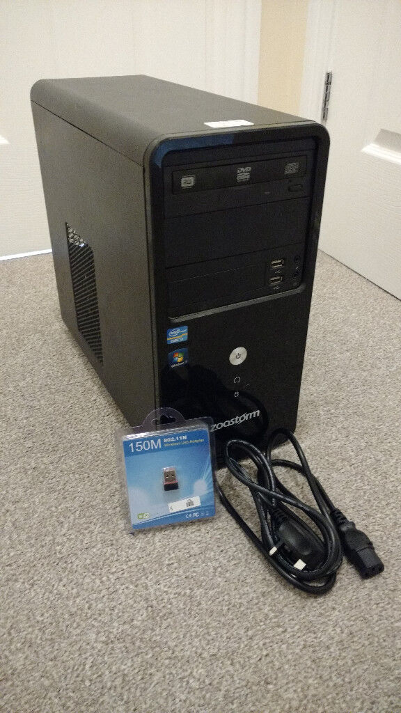 Zoostorm Core i3 Desktop PC Computer With WiFi & Power Cable