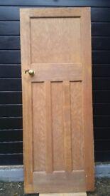 Solid Hardwood internal door - 1 over 3