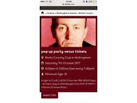 VENUS pop up party Nottingham 3 tickets!