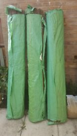 3 x Willow Natural Garden Fence Screening Roll Privacy Border Wind & Sun Protection 4.0m x 2.0m