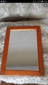 Teak wooden mirror