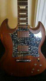 Sg style home built guitar