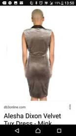 Beautiful alisha Dixon mink velvet dress