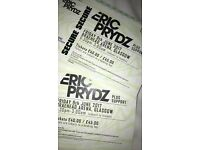 2 Eric Prydz tickets 9th June braehead arena face value