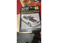 Rover 75 & mg zt manual