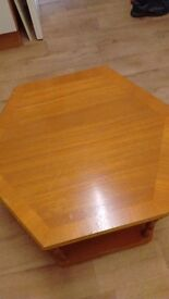 Six sided coffee table