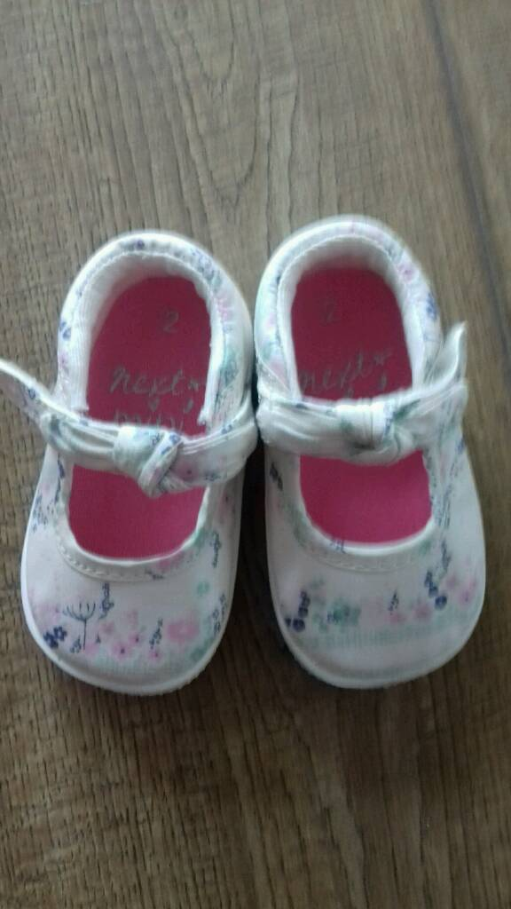 Next baby girl shoes - size 2