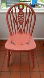 Pink distressed style chair