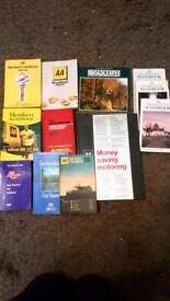 AA car and travel books x12