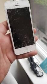 Crack screen iphone 5