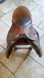 Leather Riding Saddle