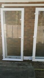 double glazed nearly new patio doors for sale