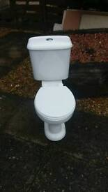 Toilet white ceramic