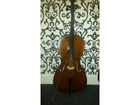 Cello in great condition Half size 41 inches long with carry case